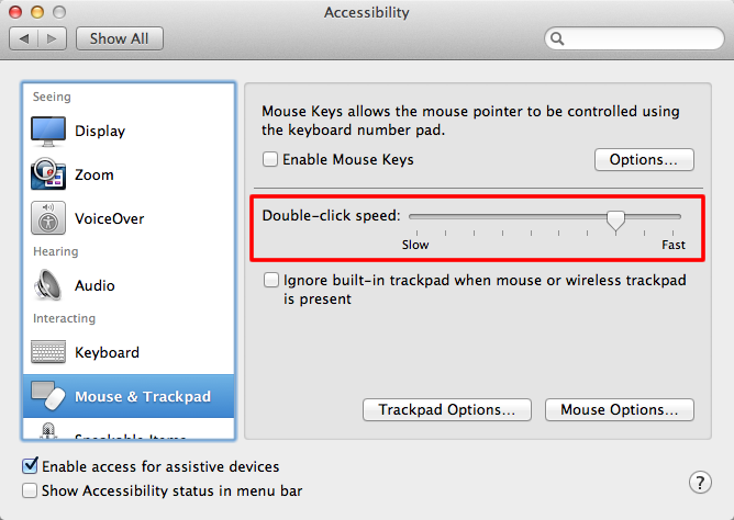 Apple OS X 10 8 Mountain Lion - Slowing down your mouse's