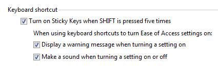 how to turn off sticky keys windows 8
